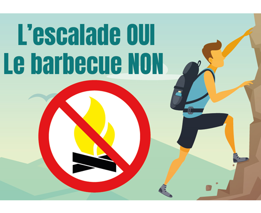 Interdiction de barbecue au site d'escalade de Riverie